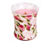 WoodWick candle glass medium Illustrated Rose