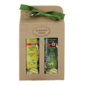 Bohemia Gifts & Cosmetics Olive oil, grape oil and citrus extract oil shower gel 250 ml + oil shampoo 250 ml, cosmetic set
