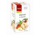 Apotheke Natur Ginger and sea buckthorn fruit tea helps digestion, breathing and well-being 20 x 2 g