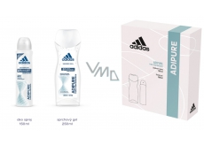 Adidas Adipure 150 ml deodorant spray for women + 250 ml shower gel, cosmetic set
