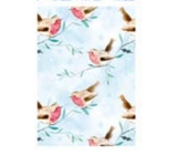 Ditipo Gift wrapping paper 70 x 200 cm light blue bird and snowflakes