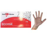 Safe Worker Boorne Examination gloves, vinyl, powder-free, non-sterile, size S, box of 100 pieces