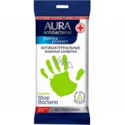 Aura Antibacterial wet wipes for hands 20 pieces