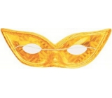 Golden hologram cat eyes mask suitable for adults