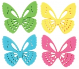 Felt butterfly decoration 6 cm in a box of 12 pieces