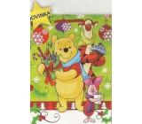 Nekupto Gift paper bag large 33 x 26 x 13 cm Winnie the Pooh Christmas 1187 WLGL