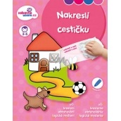 Ditipo Wiping book Draw a path 3-5 years 16 pages 215 x 275 mm