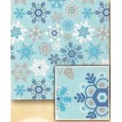 Nekupto Vánoční balicí papír Světle modrý, vločky 2 x 0,7 m BVC 2015 21