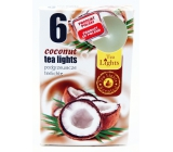 Tea Lights Coconut with coconut aroma scented tea candles 6 pieces