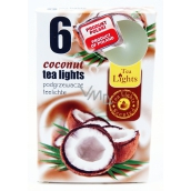 Tea Lights 6pcs Coconut 6954