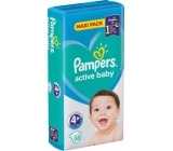Pampers Active Baby 4+ Maxi Plus 10-15 kg diapers 53 pieces