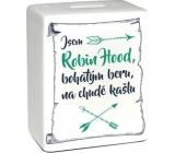 Albi Robin Hood ceramic brick money box 11.8 x 10 x 5 cm