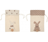 Linen bag with bunny 20 x 30 cm 1 piece