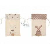 Linen bag with bunny 20 x 30 cm 1 piece