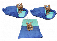 Marysa litter - 3in1 bag is designed for puppy, kitten, rodent or ferret XL 60 x 150 cm blue / turquoise