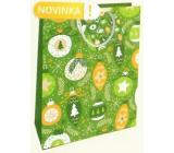 Nekupto Gift paper bag 32.5 x 26 x 13 cm green decorations Christmas WBL