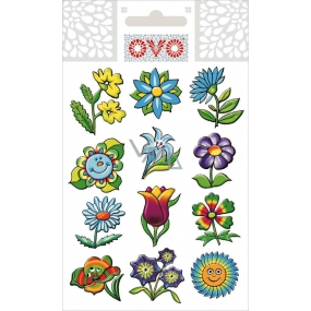 Ovo Decals glitter flowers 1 piece Decals for Easter eggs