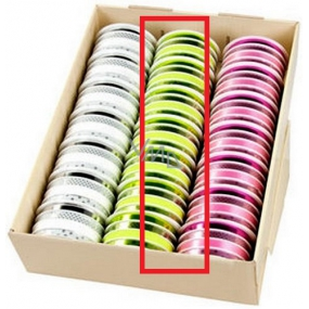 Ditipo Ribbon multi trendy colors green mix 16 mx 10 mm