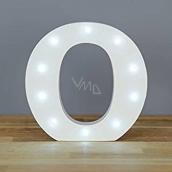 Nekupto Dřevěné LED písmeno O dekorace 16 cm NLE 015