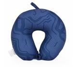 Albi Travel pillow Dark blue with pattern 30 x 28 x 10 cm
