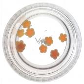 Professional Nail Decorations Flower Orange 132
