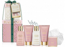 Baylis & Harding Jojoba, Vanilla & Almond oil shower cream 100 ml + cleansing gel 100 ml + body lotion 50 ml + hand cream 50 ml + bath crystals 25 g + washcloth, cosmetic set
