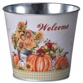 Emocio Flowerpot tin classic Autumn 133 x 95 x 115 mm
