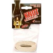 Fire Knot cotton flat length 100 cm, diameter 1.2 cm