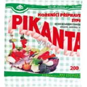 Pikanta seasoning preparation loose with salt and sugar for pickling cucumbers, vegetables and mushrooms