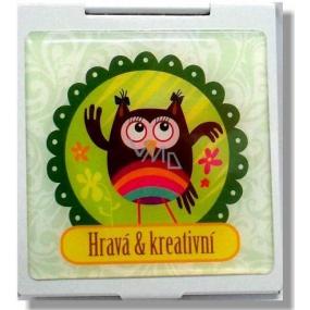 Nekupto Miss Cool Gift mirror for handbag Owl Playful & creative