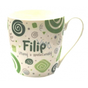 Nekupto Twister mug named Filip green 0.4 liter