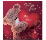 Me to You Envelope 3D Envelope For You From Love, Teddy Bear with Heart 15.5 x 15.5 cm