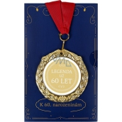 Albi Greeting card W - Greeting card with medal - 60 years