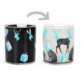 Albi Changing glass mug Christmas animals 310 ml