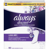 Always Discreet Liner Long incontinence panty liners 60 pieces
