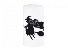 Bolsius Witch decorative candle white cylinder 60 x 120 mm