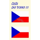 Arch Tattoo Decals for Face and Body Czech Flag 3 motifs
