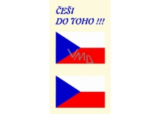 Arch Tattoo decals for face and body Czech flag 3 motif