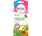 Veet Natural Inspirations Face Wax Strips 20 Pieces + Luminous Finish Wipes 4 Pieces