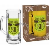 Albi My Bar Beer mug with ear Life starts after 50 500 ml