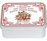 Le Blanc Fruits Rouges - Red fruit natural soap solid in a box of 100 g