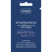 Ziaja Acai Berry smoothing night mask for face and neck 7 ml