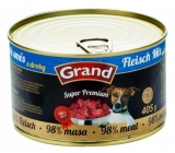 Grand Super Premium Meat mixture for dogs 98% meat 405 g