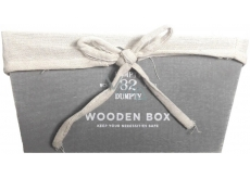 Nekupto Home Decor Wooden basket medium 25 x 12.5 x 16 cm