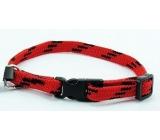 Colored nylon red-black 1.0 x 18 - 28 cm