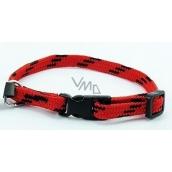 B&F Nylon red-black collar 1,0 x 18 - 28 cm