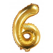 Balloon Inflatable Number 6, 35 cm Foil