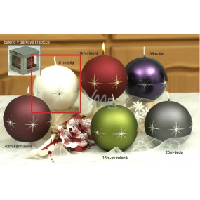Lima Zircon candle white ball 100 mm 1 piece