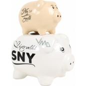 Albi Piggy Bank Its Her Piggy Beige-White 18 x 14 x 10 cm