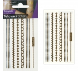 Tattoo decals gold and silver Chains 10.5 x 6 cm